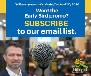 Hillcrest presents Dr. Hanley poster